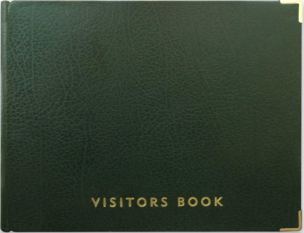 Buy Personalised Classic Visitors Book Green At The