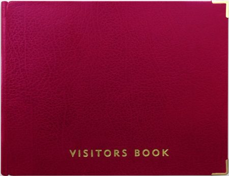 VISITOR BOOK_RED